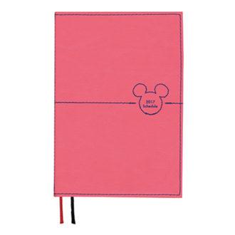 2017年1月始まり ディズニー Disney Diary ステッチワークミッキー 見開き1週間 A6 ピンク E6077