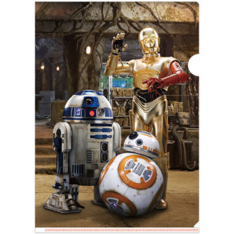 3Dクリアファイル STAR WARS スター・ウォーズ/フォースの覚醒 C-3PO R2-D2 BB-8 All-star Droids