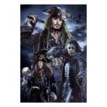 3Dポストカード パイレーツ・オブ・カリビアン5/最後の海賊 001 Captains S3758