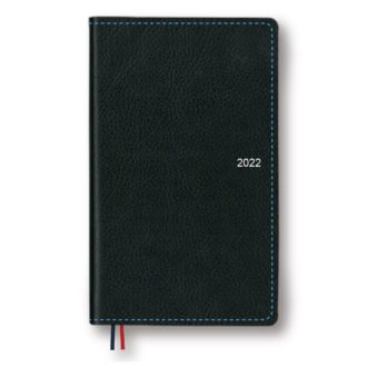 2022年1月始まり アポイント Appoint E1642 1週間+横罫 手帳サイズ ブラック