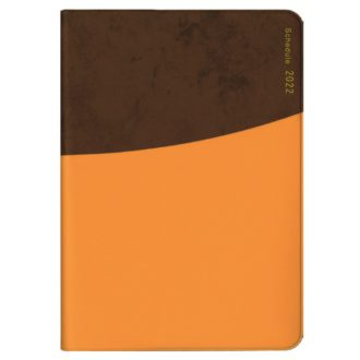 2022年1月始まり ミル MILL E7537 1週間+横罫 CIRCLE B6 ブラウン×オレンジ