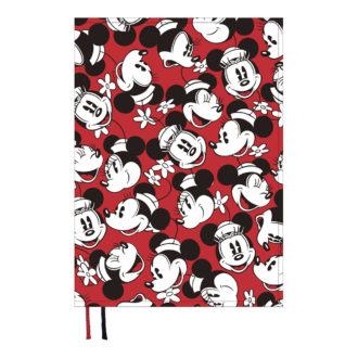 2018年1月始まり ディズニー Disney Diary E6099 1週間+横罫 フェイスミックス B6 レッド