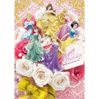 3Dポストカード ブーケシリーズ プリンセスオールスター バースデーカード #01