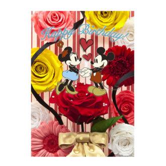 3Dポストカード ブーケシリーズ ミッキー&ミニー バースデーカード #01