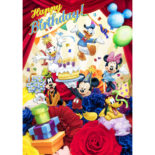 3Dポストカード ブーケシリーズ ミッキー&フレンズ バースデーカード #01