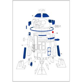 スター・ウォーズ エピソード8/最後のジェダイ メモ A7 EngineeringDrawing R2-D2