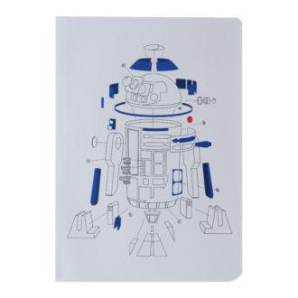 スター・ウォーズ エピソード8/最後のジェダイ B6ノート EngineeringDrawing R2-D2