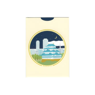 メッセージカード 名古屋の夜明け 大 名古屋城と風景