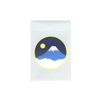 メッセージカード 富士の夜明け 小