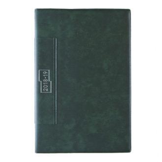 2018年4月始まり 土橋正氏監修 フレームマンスリー手帳 E9190 1ヶ月ブロック 日曜始まり 薄型 手帳サイズ グリーン