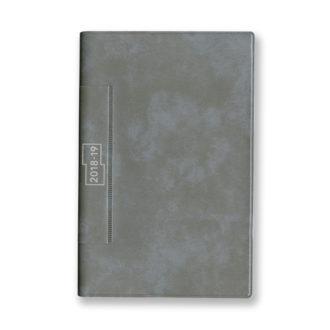 2018年4月始まり 土橋正氏監修 フレームマンスリー手帳 E9193 1ヶ月ブロック 日曜始まり 薄型 手帳サイズ グレー
