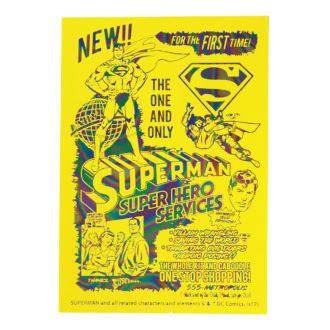 DCコミックス スーパーマン SUPERMAN A7メモ Neon Yellow