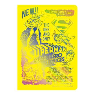DCコミックス スーパーマン SUPERMAN B6ノート Neon Yellow