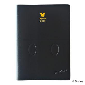 2019年1月始まり ディズニー Disney Diary E6112 1週間+横罫 ワードローブミッキー B6 ブラック