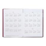 2019年1月始まり コネクトグラフィック CONNECT GRAPHIC V2549 1ヶ月ブロック INK B6 薄型 レッド