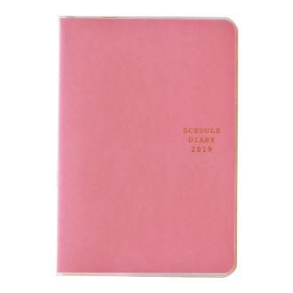 2019年1月始まり ミル MILL E7551 1ヶ月ブロック 日曜始まり 薄型 TINT B6 ピンク