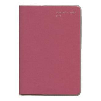 2021年1月始まり ミル MILL E7557 1ヶ月ブロック+チャート 月曜始まり 薄型 PATTERN B6 ピンク