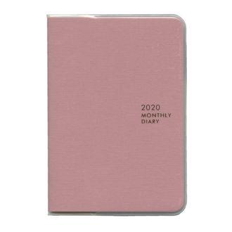 2020年1月始まり ミル MILL E7545 1ヶ月ブロック 日曜始まり 薄型 SUNNY A6 ピンク