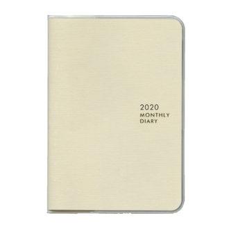2020年1月始まり ミル MILL E7546 1ヶ月ブロック 日曜始まり 薄型 SUNNY A6 ホワイト