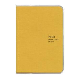 2020年1月始まり ミル MILL E7547 1ヶ月ブロック 日曜始まり 薄型 SUNNY A6 イエロー