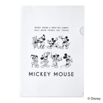 ミッキーマウス生誕90周年商品 A4 クリアファイル ミッキー_AN N1610