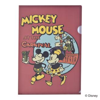 ミッキーマウス生誕90周年商品 A4 クリアファイル ミッキー&ミニー N1613
