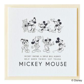 ミッキーマウス生誕90周年商品 メッセージカード ミッキー_AN_2 S4471