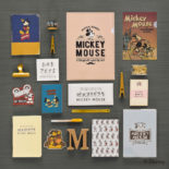 ミッキーマウス生誕90周年商品 A5厚口ノートミッキー R1591