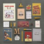 ミッキーマウス生誕90周年商品 B6ノート ミッキー&ミニー R1596