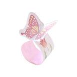 リング付箋 蝶 ピンク S2284