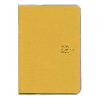 2020年4月始まり ミル MILL E9477 1ヶ月ブロック 日曜始まり 薄型 SUNNY A6 イエロー