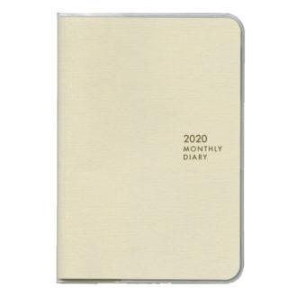 2020年4月始まり ミル MILL E9476 1ヶ月ブロック 日曜始まり 薄型 SUNNY A6 ホワイト