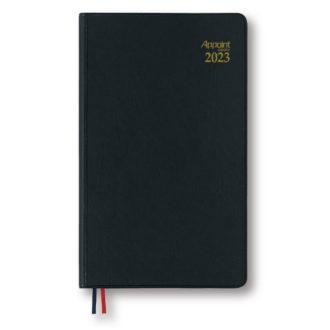 2017年4月始まり アポイント Appoint E1120 見開き1週間 手帳サイズ ブラック