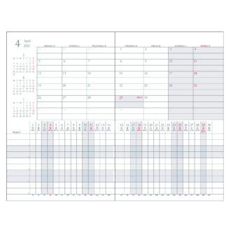 2018年4月始まり プロジェクトダイアリー Project Diary E1152 Aタイプ 薄型 A5対応 ミント