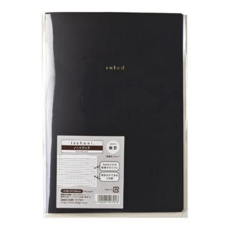 isshoni. ノート B6 横罫 ブラック R1701